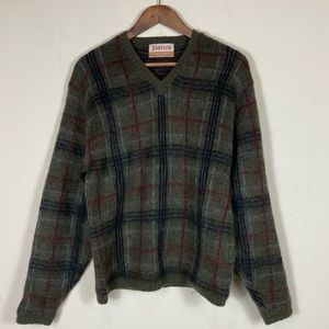 70's Vintage Wool Plaid Tartan Pullover Sweater